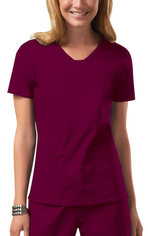 Cherokee Workwear V-Neck Top 24703 Wine WINW