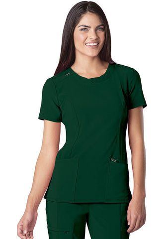 Cherokee Round Neck Top 2624A Hunter Green HNPS