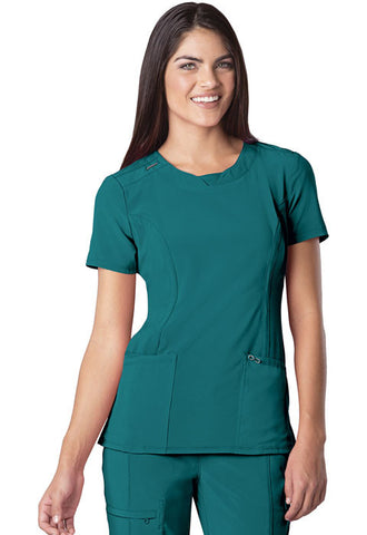 Cherokee Round Neck Top 2624A Teal Blue TLPS