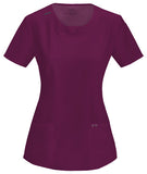 Cherokee Round Neck Top 2624A Wine WNPS