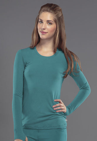 Cherokee Long Sleeve Underscrub Knit Tee 2626A Teal Blue TLPS