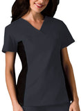 Cherokee V-Neck Knit Panel Top 2874 Pewter PWTB