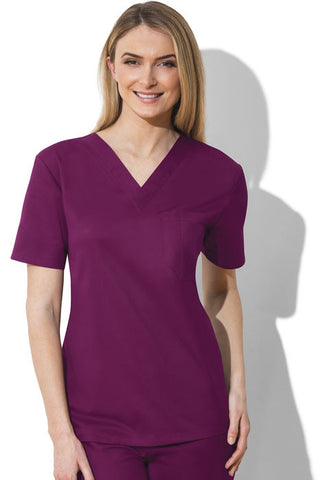 Cherokee Workwear Unisex V-Neck Top 34777A Wine WINW