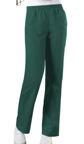 Cherokee Workwear Natural Rise Tapered Leg Pull-On Pant  Petite 4001P Hunter HUNW