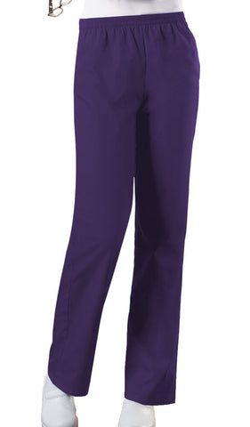 Cherokee Workwear Natural Rise Tapered Leg Pull-On Pant 4001 Eggplant EGGW