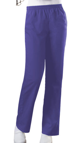 Cherokee Workwear Natural Rise Tapered Leg Pull-On Pant 4001 Grape GRPW