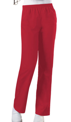 Cherokee Workwear Natural Rise Tapered Leg Pull-On Pant 4001 Red REDW