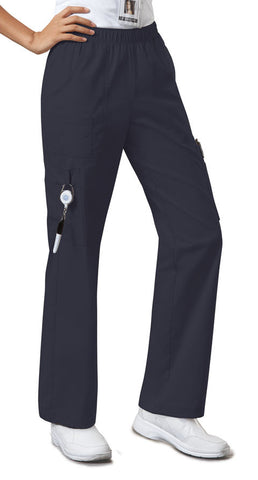 Cherokee Workwear Mid Rise Pull-On Pant Cargo Pant 4005 Pewter PWTW