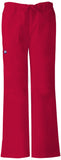 CHEROKEE WORKWEAR LOW RISE DRAWSTRING CARGO PANT  TALL TALL 4020T RED REDW