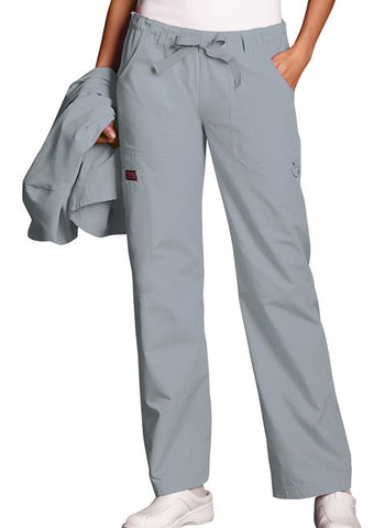 Cherokee Workwear Low Rise Drawstring Cargo Pant 4020 Grey GRYW