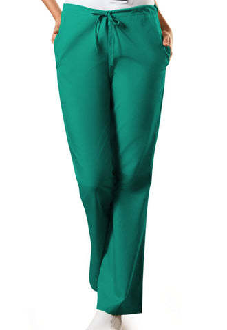Cherokee Workwear Natural Rise Flare Leg Drawstring Pant  Tall 4101T Surgical Green SGRW