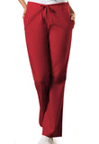 Cherokee Workwear Natural Rise Flare Leg Drawstring Pant 4101 Red REDW