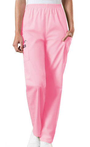 Cherokee Workwear Natural Rise Tapered LPull-On Cargo Pant 4200 Pink Blush PKBW