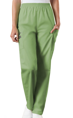 Cherokee Workwear Natural Rise Tapered LPull-On Cargo Pant 4200 Sage Green SAGW