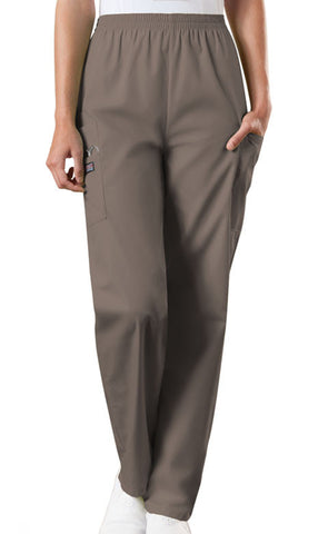 Cherokee Workwear Natural Rise Tapered LPull-On Cargo Pant 4200 Taupe TAUW