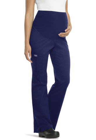 Cherokee Workwear Maternity Knit Waist Pull-On Pant 4208 Navy NAVW