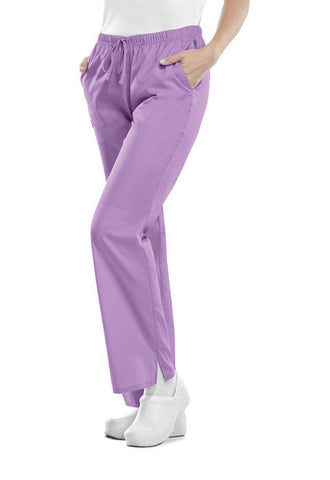 Cherokee Workwear Mid Rise Moderate Flare Drawstring Pant 44101A Vibrant Orchid VBOW