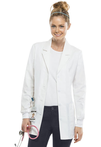"Cherokee Workwear 30"" Lab Coat 4416 White WHTW"