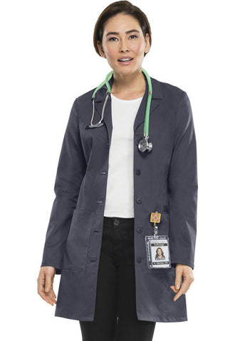 "Cherokee Workwear 33"" Lab Coat 4439 Pewter PEWV"