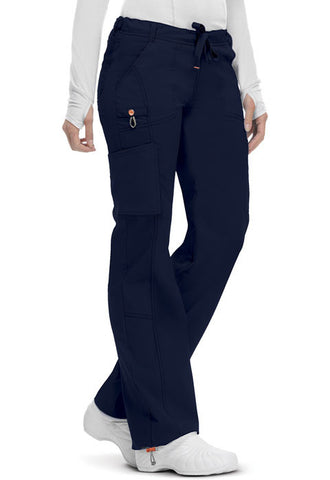 Code Happy Low Rise Straight Leg Drawstring Pant 46000A Navy NVCH