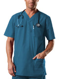 Cherokee Workwear Tall Unisex V-Neck Top 4701 Caribbean Blue CARW