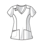 Cherokee Workwear V-Neck Top 4710 White WHTW
