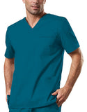Cherokee Workwear Unisex V-Neck Top 4725 Caribbean Blue CARW