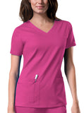 Cherokee Workwear V-Neck Top 4727 Shocking Pink SHPW