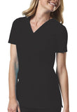 Cherokee Workwear Mock Wrap Top 4728 Black BLKW