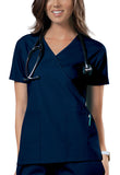 Cherokee Workwear Mock Wrap Top 4741 Navy NAVW