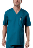 Cherokee Workwear Men's V-Neck Top 4743 Caribbean Blue CARW