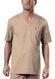 Cherokee Workwear Men's V-Neck Top 4743 Khaki KAKW