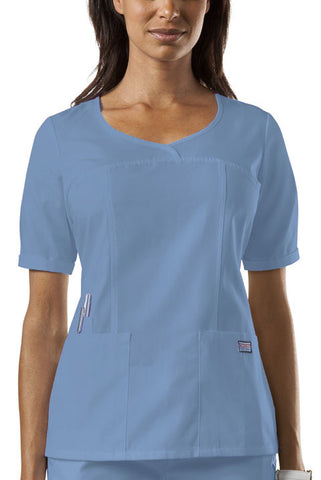 Cherokee Workwear V-Neck Top 4746 Ciel CIEW