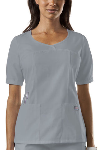 Cherokee Workwear V-Neck Top 4746 Grey GRYW