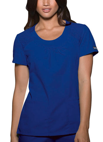 Cherokee Workwear Round Neck Top 4761 Galaxy Blue GABW