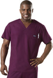 Cherokee Workwear Men's  V-Neck Top 4789 Wine WINW