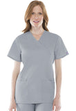 Cherokee Workwear Mock Wrap Tunic 4801 Grey GRYW