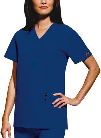 Cherokee Workwear Mock Wrap Tunic 4801 Navy NAVW