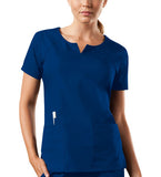 Cherokee Workwear Round Neck Top 4824 Galaxy Blue GABW