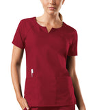 Cherokee Workwear Round Neck Top 4824 Red REDW