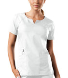 Cherokee Workwear Round Neck Top 4824 White WHTW