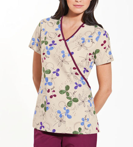 Scrub HQ Mock Wrap Top 4826 Clover Park CPRK