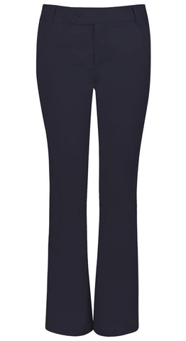 Classroom Uniforms Jr Stretch Moderate Flare Leg Pant 51324 Dark Navy DNVY