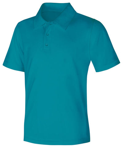 Classroom Uniforms Youth Unisex Moisture-Wicking Polo Shirt 58602 Teal TEAL
