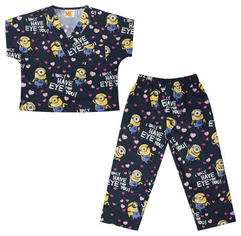 Tooniforms Kids Top and Pant Scrub Set 6620C Eye for You DPEY