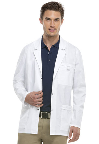 "Dickies 31"" Men's Snap Front Lab Coat 81403 White DWHZ"