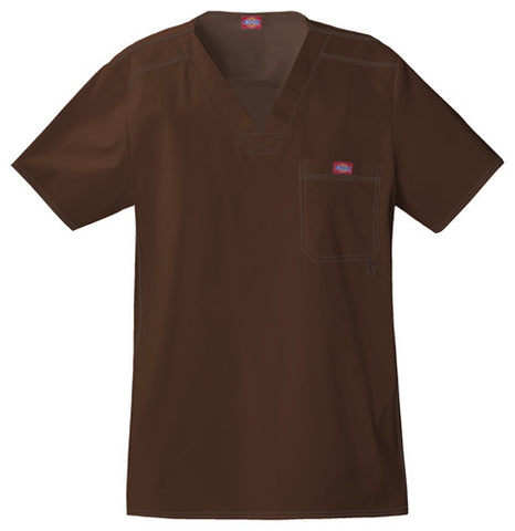 Dickies Men's V-Neck Top 81722 Chocolate CHCZ