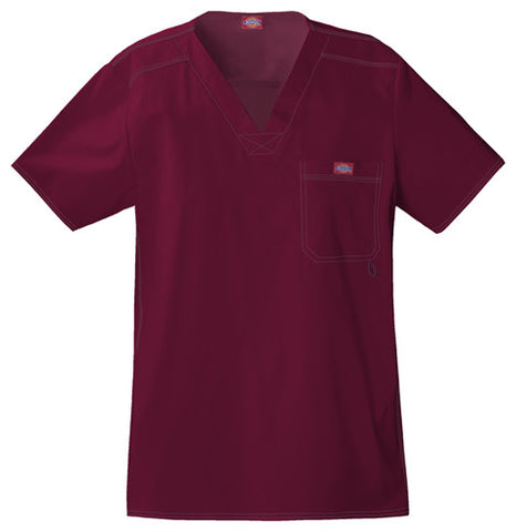 Dickies Men's V-Neck Top 81722 D-Wine WINZ