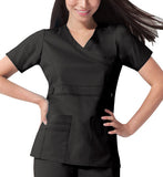 Dickies Mock Wrap Top 817355 Black BLKZ