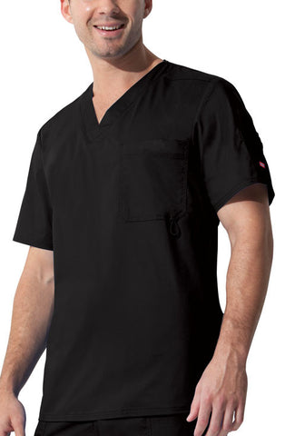 "Dickies ""Youtility"" Men's V-Neck Top 81822 Black BLKZ"